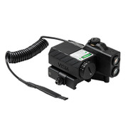 NcSTAR Offset Green Laser Designator w/NAV LEDs -Black
