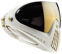 DYE i4 Invision Paintball Goggles - White/Gold