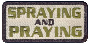 Spraying and Praying Velco Patch