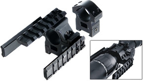 "UTG Deluxe Tactical Tri-Rail 1"" Scope Mount System w/ Ring"