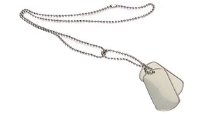 Military Grade 4 Piece Dog Tag Set