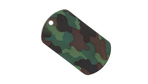 Military Grade Dog Tag 2 Pk Set - Woodland