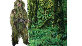 Ghillie Sniper Camouflage Suit - Woodland Camo - M/L
