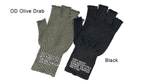 Rothco Wool Fingerless GI Gloves - OD Green