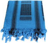 Lightweight Shemagh Tactical Scarf - Blue/Black