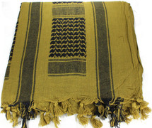 Lightweight Shemagh Tactical Scarf - Coyote/Black