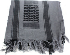 Lightweight Shemagh Tactical Scarf - Grey/Black