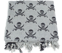 Lightweight Shemagh Tactical Scarf - Grey/Skulls