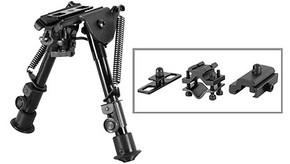 NcSTAR ABPGC Precision Grade Bipod w/ 3 Adapters - Compact