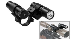 "SALE! NcSTAR ASFLG1 1"" Dual Rail Scope Adapter - Flashlight/Green Laser"