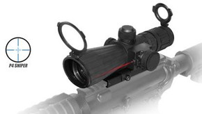NcSTAR 3-9x42 Sniper Scope w/Laser and QR