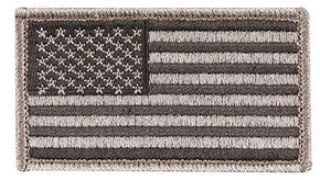 "Velco 2"" x 3"" US Flag Patch - Foliage/Black"