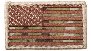 "Velco 2"" x 3"" US Flag Patch - Multicam"