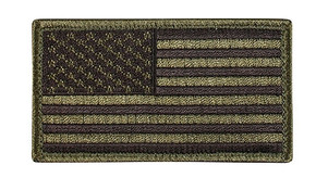 "Velco 2"" x 3"" US Flag Patch - OD/Black"