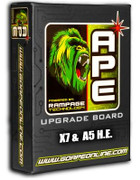 DISCONTINUED - SALE! APE Rampage Board - X7 E-Grip (A5 HE)