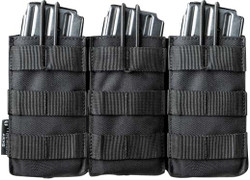 Tiberius Arms Triple Open M4 Mag Pouch - Black