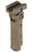 UTG Ambidextrous Folding Foregrip w/ Pressure Housing - FDE