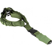 Aim Sports One Point Bungee Rifle Sling w/Steel Clip/ Heavy Duty Sleeve- Green