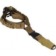 Aim Sports One Point Bungee Rifle Sling w/Steel Clip/ Heavy Duty Sleeve- Tan