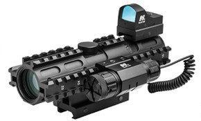 NcSTAR 3RS 2-7X32 P4 Sniper/Micro Dot/Red Laser Scope Combo