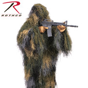 SALE! ROTHCO Lightweight Ghillie Long Jacket Kit - Woodland