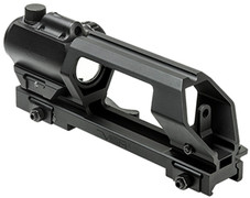 NcSTAR AR15 Advanced Detachable Carry Handle and VDGRLB Green Dot Reflex Optic w/ Red Laser Combo