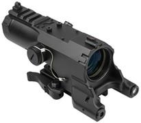 NcSTAR ECO 4X34 Scope w/Green Laser & NAV LED - Black