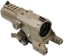 NcSTAR ECO 4X34 Scope w/Green Laser & NAV LED - Tan