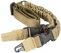 Aim Sports Two Or One Point Bungee Sling - Tan