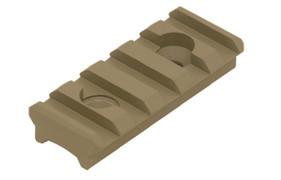 UTG PRO 5 Slot Super Slim Free Float Handguard Rail - FDE