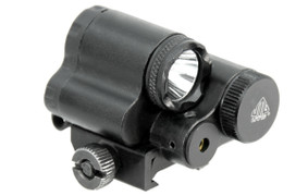 UTG Sub-Compact LED Light w/Aiming Adjustable Red Laser
