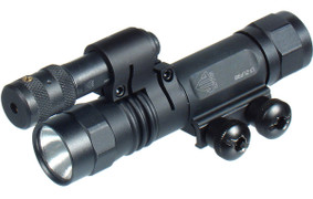 UTG Xenon Weapon Mount Light /Red Laser w/Rotation Ring