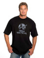 Mesa Tactical™ Smoking Gun Short Sleeved Tee, Color on Black - MEDIUM