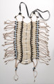 5200-L White bone and Tq bead - Breast Plates