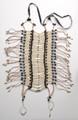 5200-L White bone and Tq bead - Breast Plates