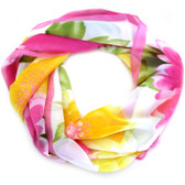 Pink Watercolour Flower Design Scarf