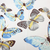 White Colourful Butterfly Scarf