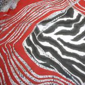 Red Zebra & Leopard Scarf