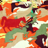 Colourful Horse Print Scarf