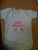 Personalised Baby/Toddler Vest, Newborn Gift - Bodysuit/Grow, Footprint Design