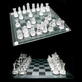32 Piece Crystal Glass Chess Board