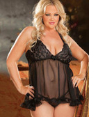 Plus Size Babydoll and GString