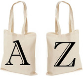 Alphabet Initial Letter Shopping Bag