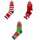 3 Pairs of Christmas Slipper Socks