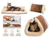 2 in 1 Kitty Shack Cat Bed