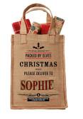 Personalised Christmas Jute bag with Handles