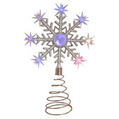 Colour Changing Battery Operated LED Snowflake Christmas Tree Topper