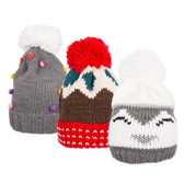 Christmas Pom Pom Beanie Hat