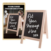 19x30cm Double Sided Chalkboard Stand with Chalk