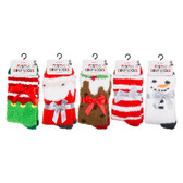 5 Pairs of Christmas Slipper Socks